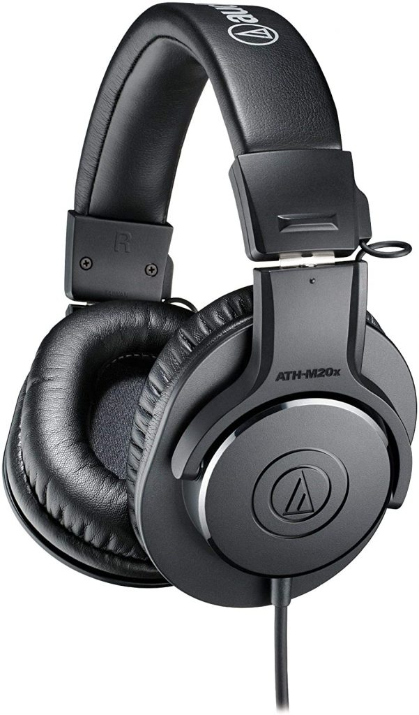 Audio-Technica ATH-M20x - best mixing and mastering headphones for beginners
