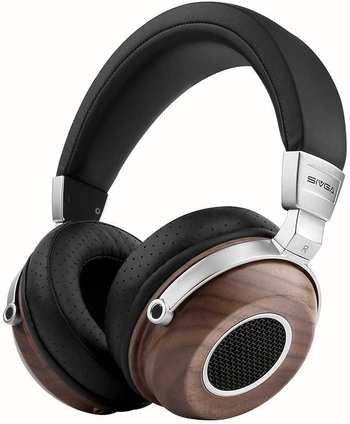 22. SIVGA SV004 Hi-Fi Wood Over-Ear Open-Back Headphones (Wired) at Amazon