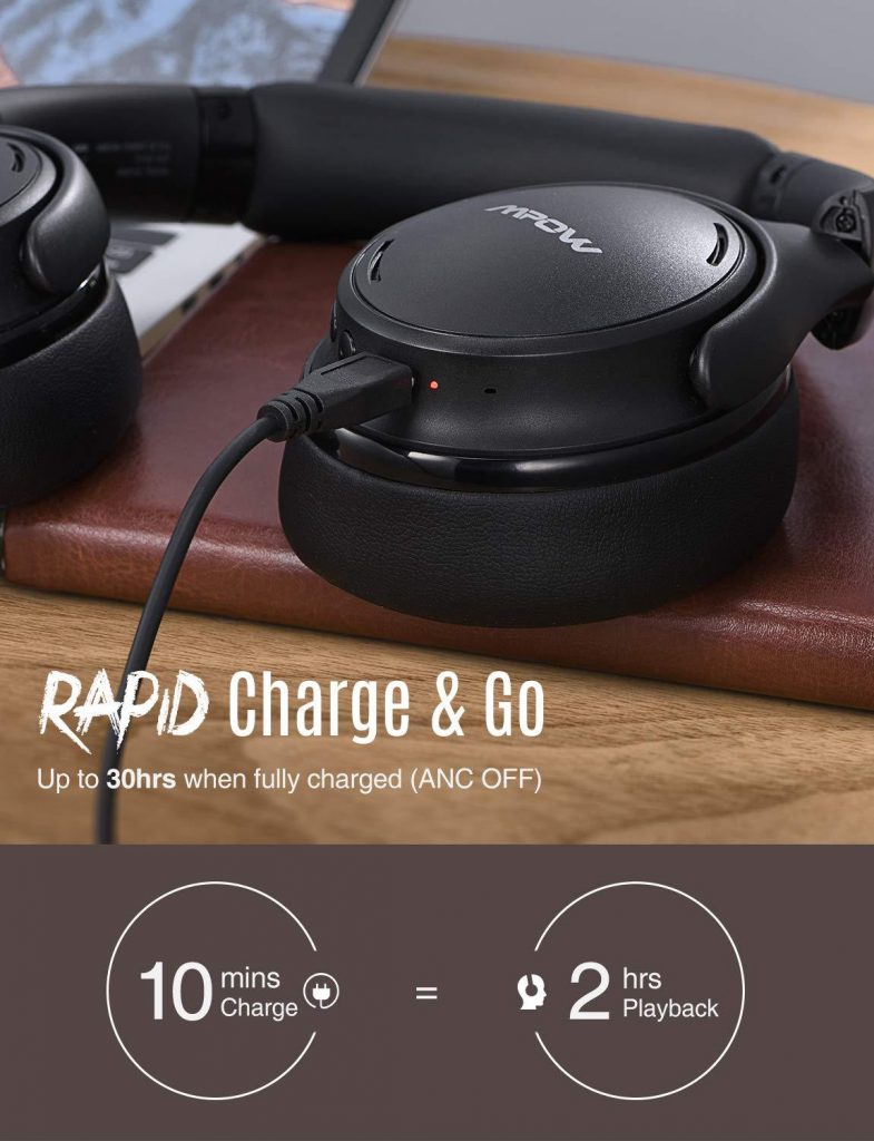 Mpow H19 Review: Charge time