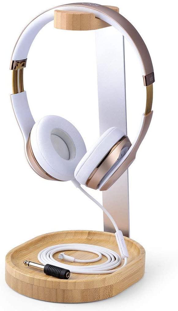 Avantree Universal Wooden & Aluminum Headphone Stand