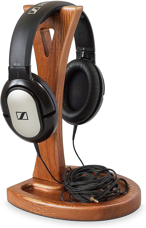 TESLYAR Wooden Headphone Stand