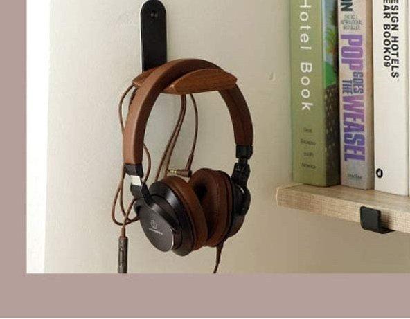 Walnut Wood Headphone Hook