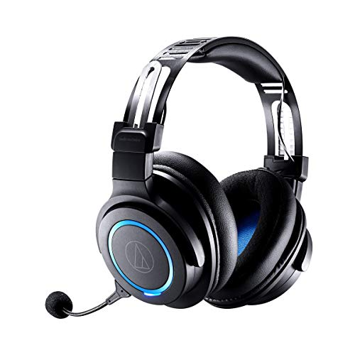 Audio Technica ATH G1WL Premium Wireless Gaming Headset for Laptops PCs Macs 24GHz 71 Surround Sound Mode USB Type A Black Adjustable 0 0