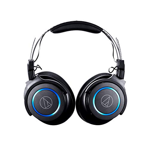 Audio Technica ATH G1WL Premium Wireless Gaming Headset for Laptops PCs Macs 24GHz 71 Surround Sound Mode USB Type A Black Adjustable 0 1