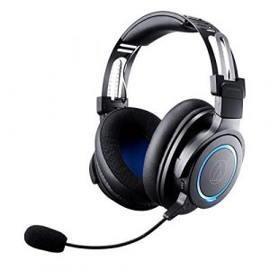 Audio Technica ATH G1WL Premium Wireless Gaming Headset for Laptops PCs Macs 24GHz 71 Surround Sound Mode USB Type A Black Adjustable 0