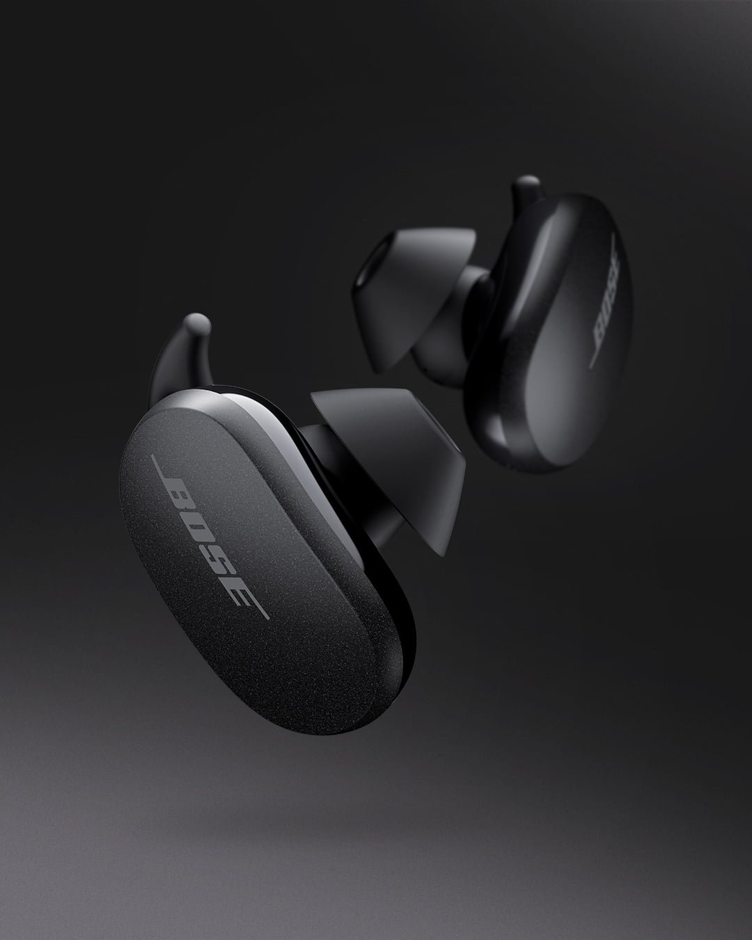Bose QuietComfort Noise Cancelling Earbuds black design