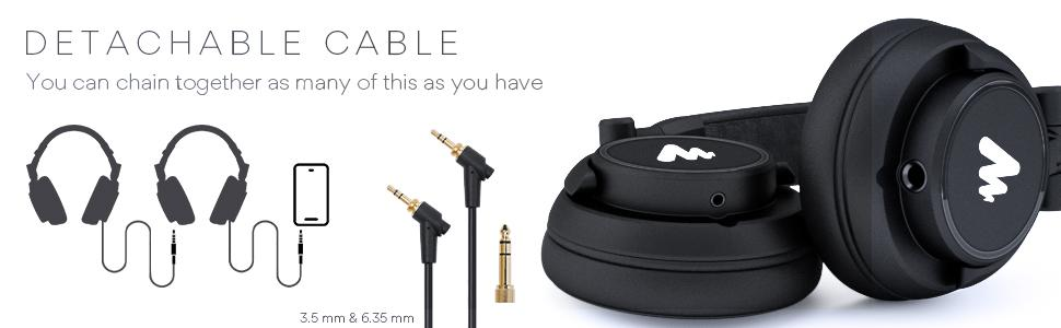 MAONO AU-MH601 headphones cords & inputs