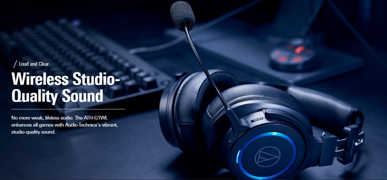 Best Audio-Technica Headphones for Gaming: ATH-G1WL Premium Wireless Gaming Headset Review in 2021